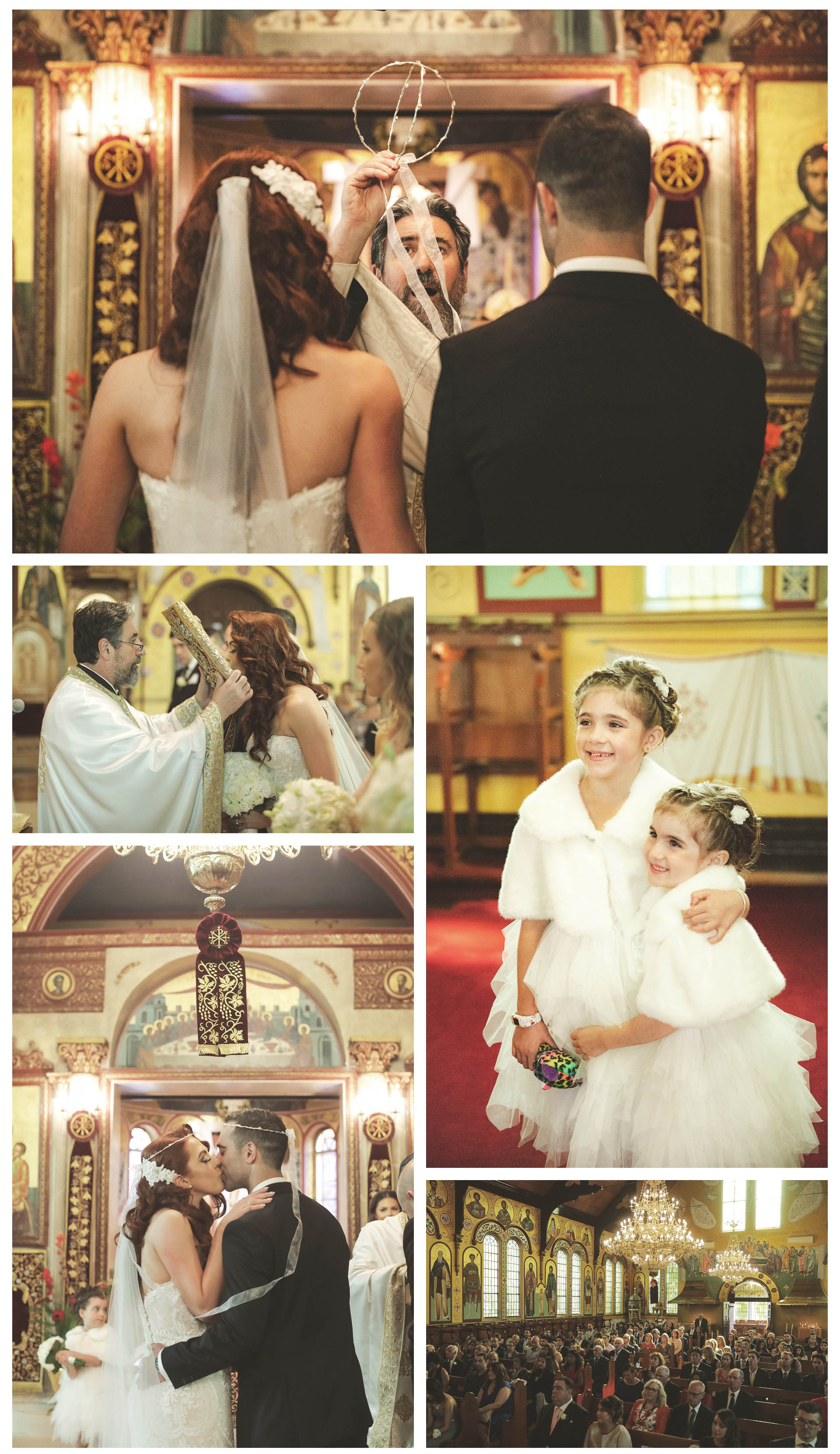 After the traditional greek ceremony in the greek orthodox church everyone throws rice grains representing blessings on the bride and groom