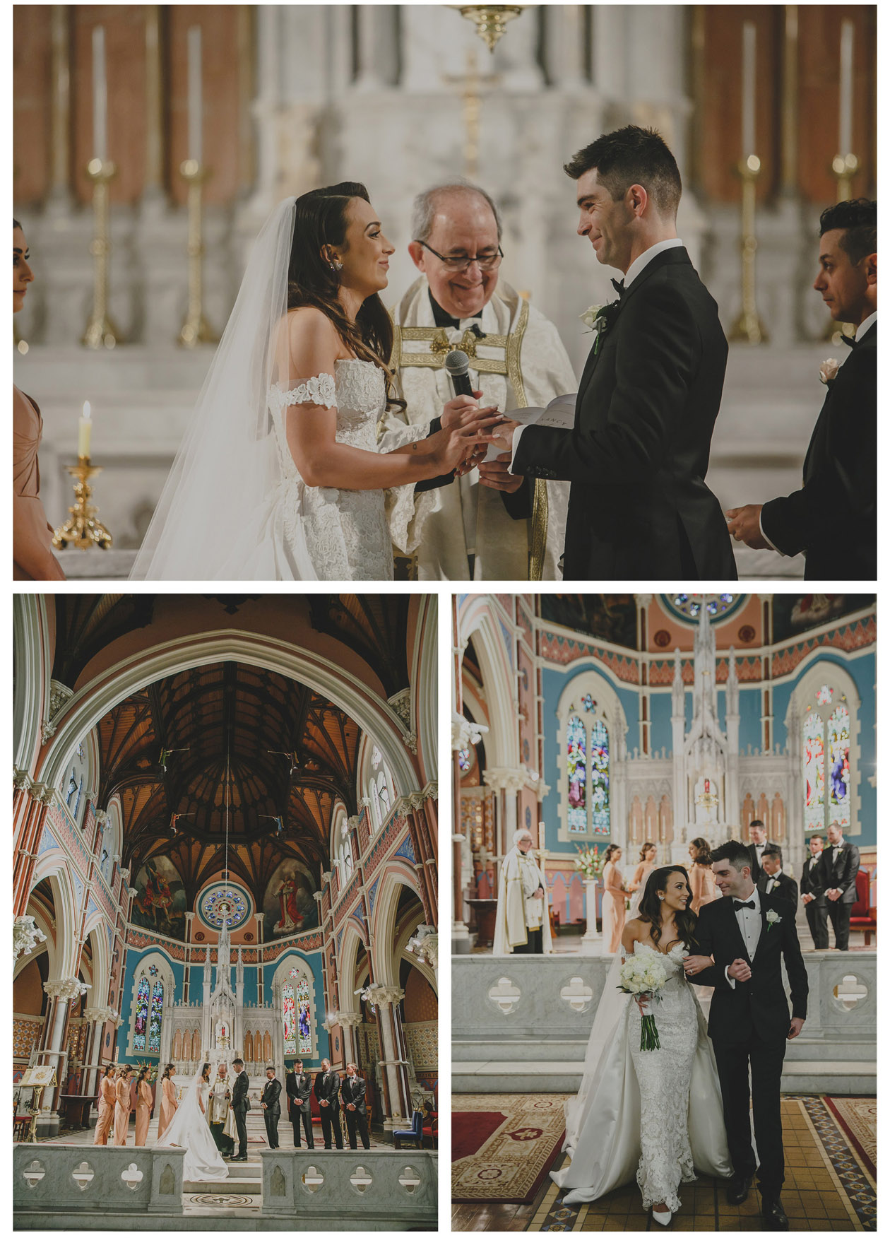 The bride and groom held a grand wedding in St Mary church